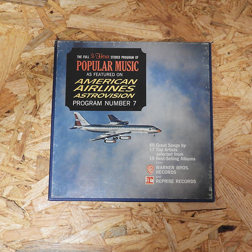 <再生確認済み>「 AMERICAN AIRLINES ASTROVISION POPULAR PROGRAM NO.7 」 オープンリール 7号 ミュージック