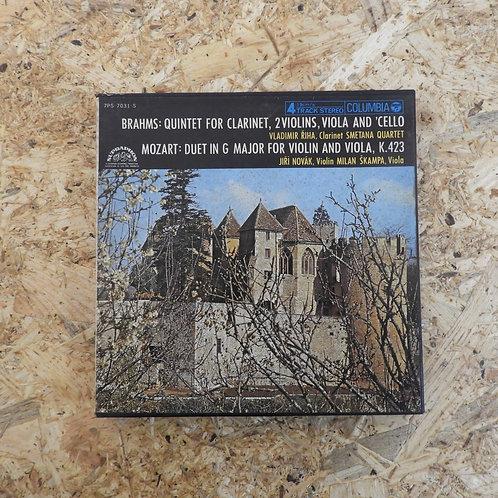 <再生確認済み>「 ブラームス:クラリネット五重奏曲、他 / ウラディミール・ルジーハ 」 オープンリール 7号 ミュージック テープ