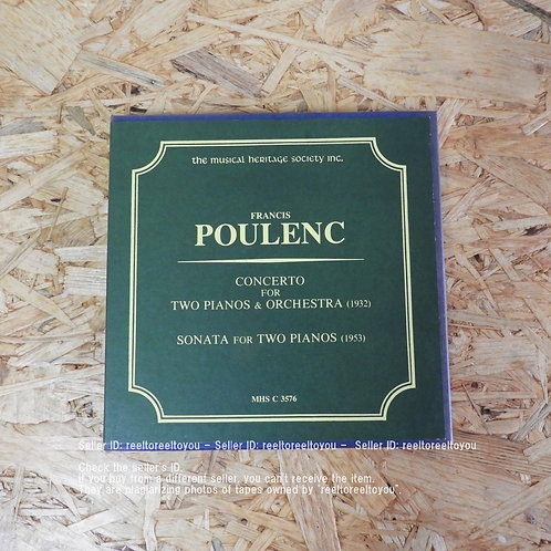 POULENC: CONCERTO FOR TWO PIANOS & ORCH
