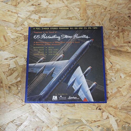 <再生確認済み>「 AMERICAN AIRLINES ASTROVISION POPULAR PROGRAM NO.17 」 オープンリール 7号 ミュージッ
