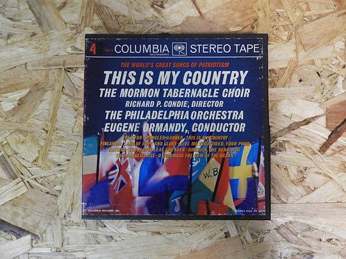 <再生確認済み>「 THIS IS MY COUNTRY / THE MORMON TABERNACLE CHOIR 」 オープンリール 7号 ミュージック テ