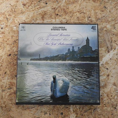 <再生確認済み>「 ON THE BEAUTIFUL BLUE DANUBE / LEONARD BERNSTEIN 」 オープンリール 7号 ミュージック テ