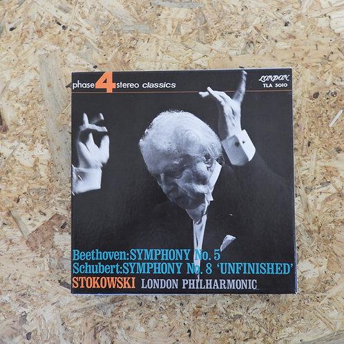 <再生確認済み>「 ベートーヴェン:交響曲第5ハ短調、作品67 / シューベルト:交響曲第8番ロ短調、D759 」 オープンリール 7号テープ