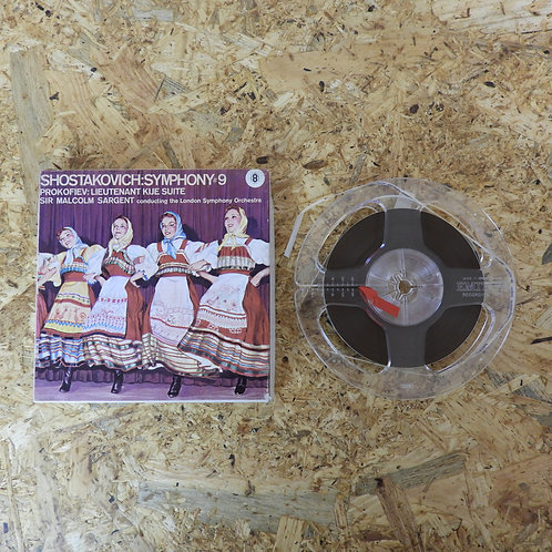 <再生確認済み>「 SHOSTAKOVICH : SYMPONY#9 」 オープンリール 5号 ミュージック テープ MONO