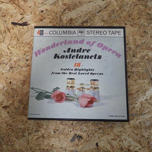 <再生確認済み>「 WONDERLAND OF OPERA / ANDRE KOSTELANETZ 」 オープンリール 7号 ミュージック テープ