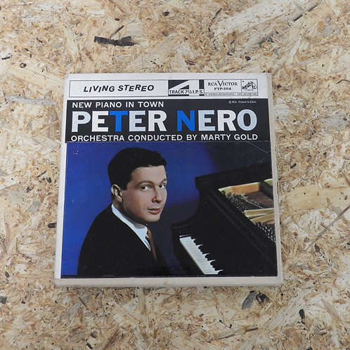 <再生確認済み>「 NEW PIANO IN TOWN / PETER NERO 」 オープンリール 7号 ミュージック テープ