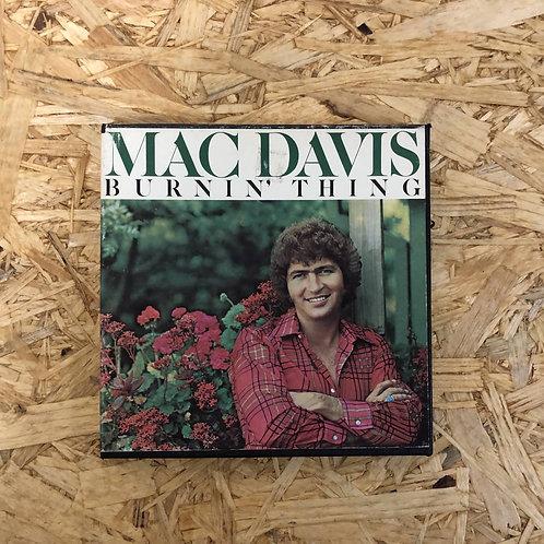 <再生確認済み>「 MAC DAVIS / BURNIN' THING 」 オープンリール 7号 ミュージック テープ