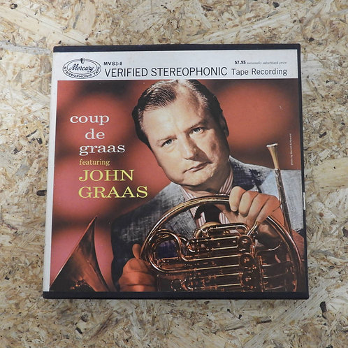 <再生確認済み>「 COUP DE GRAAS / JOHN GRAAS」 オープンリール 7号 ミュージック テープ