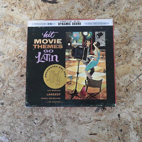 <再生確認済み>「 MOVIE THEMES GO LATIN / ORCHESTRA DEL ORO 」 オープンリール 7号 ミュージック テープ