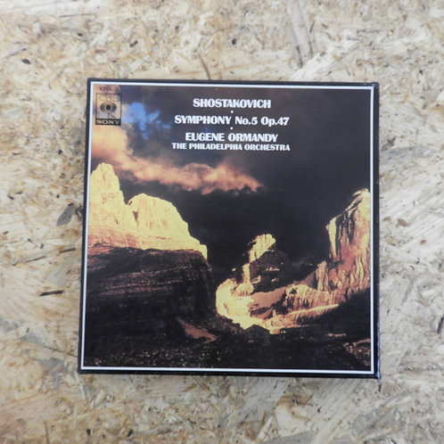 <再生確認済み>「 ショスタコーヴィッチ:交響曲第5番 作品47 / ユージン・オーマンディ指揮」 オープンリール 7号 ミュージック テープ