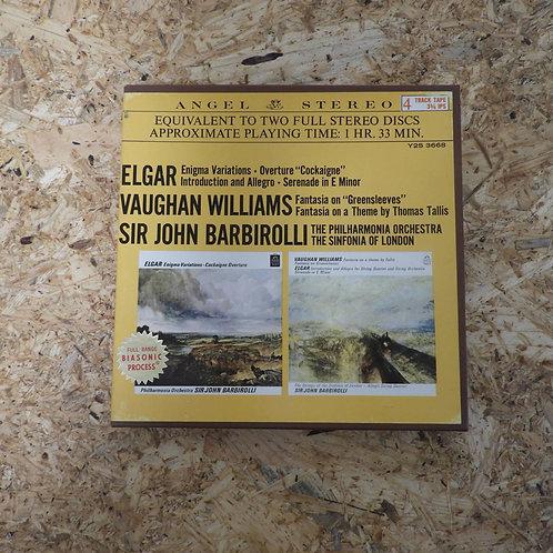 <再生確認済み>「 MUSIC OF ELGAR & VAUGHAN WILLIAMS / SIR JOHN BARBIROLLI 」 オープンリール 7号 ミ