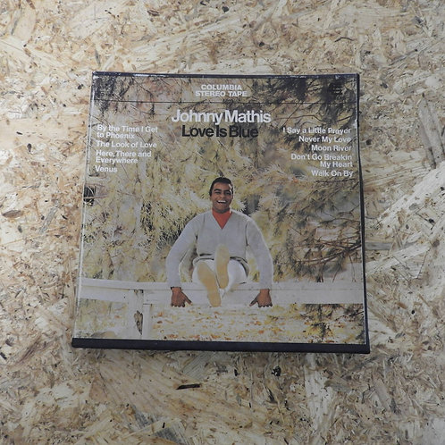 <再生確認済み>「 JOHNNY MATHIS / LOVE IS BLUE 」 オープンリール 7号 ミュージック テープ