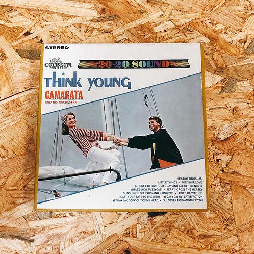 <再生確認済み>「 THINK YOUNG! / CAMARATA AND HIS ORCHESTRA 」 オープンリール 7号 ミュージック テープ