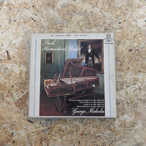 <再生確認済み>「 バッハ・ハープシコード・リサイタル / ジョージ・マルコム 」 オープンリール 7号 ミュージック テープ