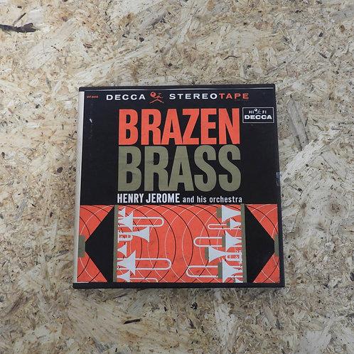 <再生確認済み>「 BRAZEN BRASS / HENRY JEROME AND HIS ORCHESTRA 」 オープンリール 7号 ミュージック テープ