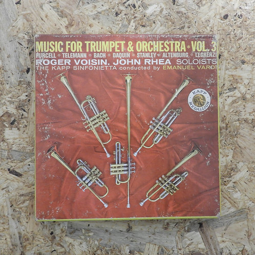 <再生確認済み>「 MUSIC FOR TRUMPET & ORCHESTRA VOL.3 / ROGER VOISIN 」 オープンリール 7号 ミュージック