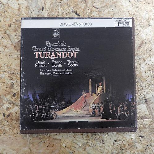 <再生確認済み>「 PUCCINI:GREAT SCENES FROM TURANDOT 」 オープンリール 7号 ミュージック テープ