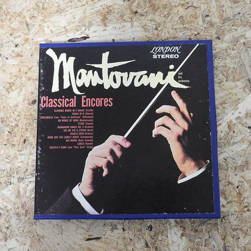 <再生確認済み>「 CLASSICAL ENCORES / MANTOVANI AND HIS ORCHESTRA 」 マントヴァーニ オープンリール 7号 ミ