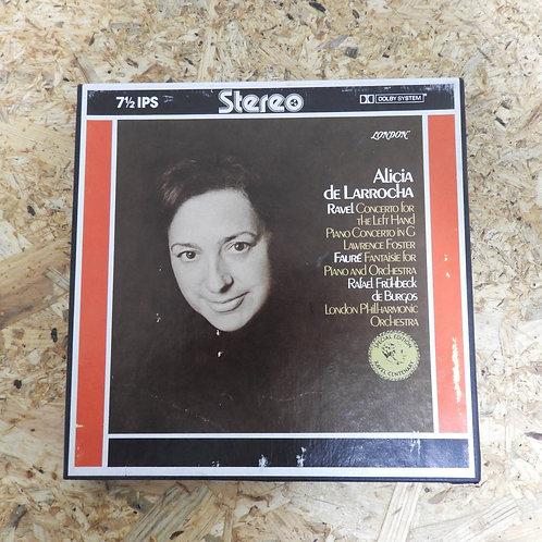 <再生確認済み>「 RAVEL : FAURE / ALICIA DE LARROCHA 」 オープンリール 7号 ミュージック テープ