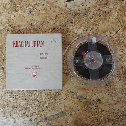 <再生確認済み>「 KHACHATURIAN / GAYANEH BALLET SUITE 」 オープンリール 5号 ミュージック テープ MONO