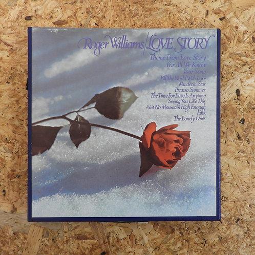 <再生確認済み>「 ROGER WILLIAMS / LOVE STORY 」 オープンリール 7号 ミュージック テープ