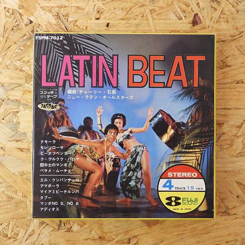 <再生確認済み>「 LATIN BEAT : チャーリー・石黒 : ニュー・ラテン・オールスターズ」 オープンリール 7号 ミュージック テープ