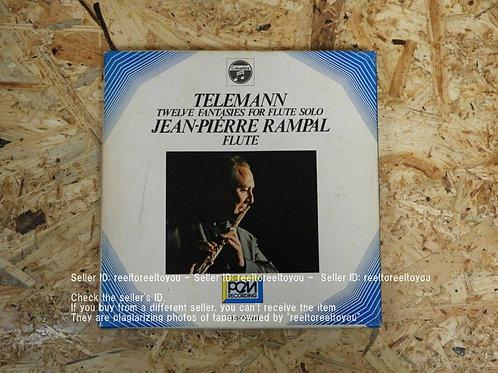 テレマン: 無伴奏フルートのための12の幻想曲集 / ジャン=ピエール・ランパル