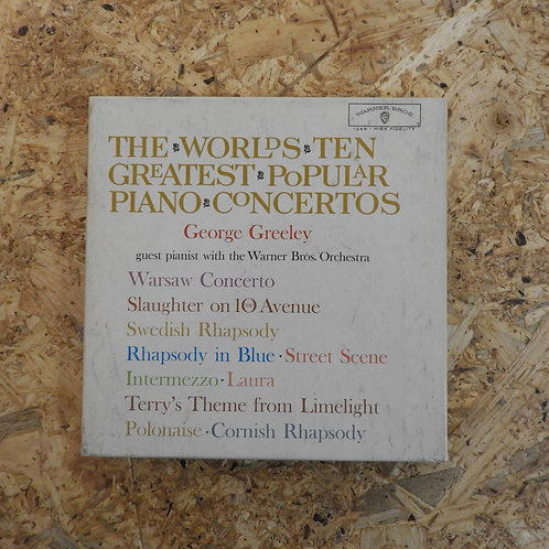 <再生確認済み>「 THE WORLD'S TEN GREATEST POPULAR PIANO CONCERTOS / GEORGE GREELEY 」 オー