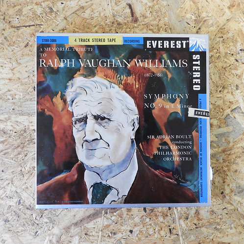 <再生確認済み>「 SYMPHONY NO.9 IN MINOR / RALPH VAUGHAN WILLIAMS 」 オープンリール 7号 テープ