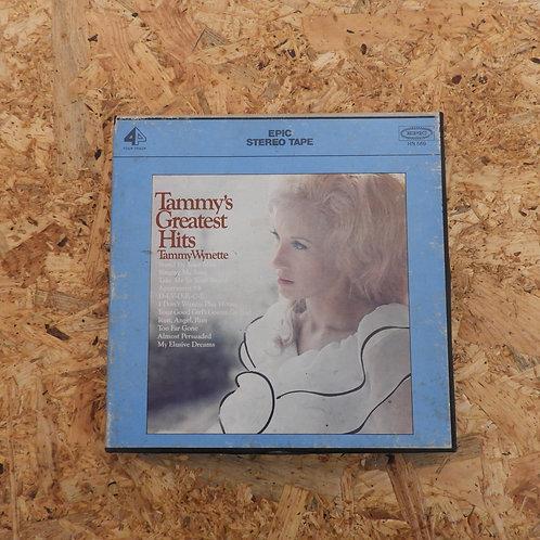 <再生確認済み>「 TAMMY'S GREATEST HITS / TAMMY WYNETTE 」 オープンリール 7号 ミュージック テープ