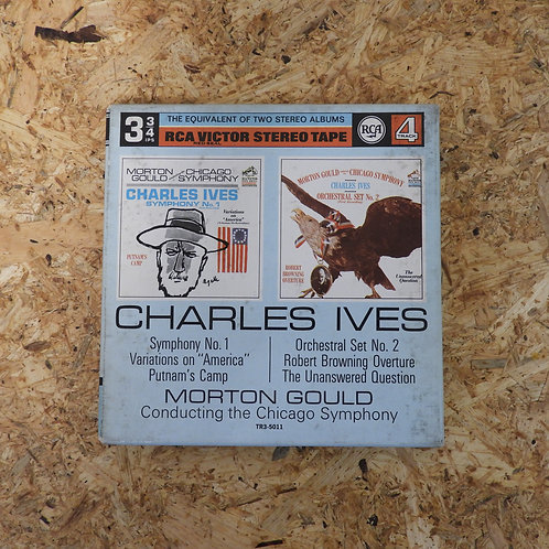<再生確認済み>「 IVES : SYMPHONY NO.1 , ORCHESTRAL SET NO.2 / MORTON GOULD 」 オープンリール 7号