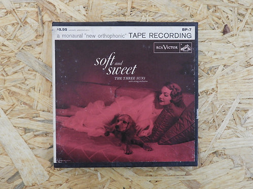 <再生確認済み>「 SOFT AND SWEET / THE THREE SUNS 」 オープンリール 7号 ミュージック テープ