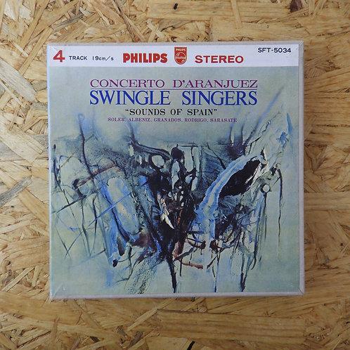 <再生確認済み>「 スペインの印象 / スイングル・シンガーズ 」 オープンリール 7号 ミュージック テープ