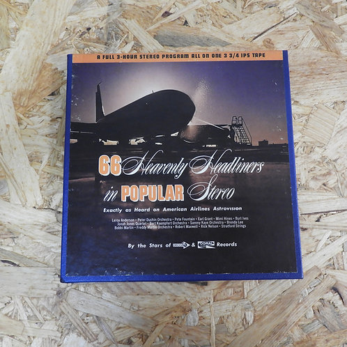 <再生確認済み>「 AMERICAN AIRLINES ASTROVISION POPULAR PROGRAM NO.30 」 V.A. オープンリール 7号