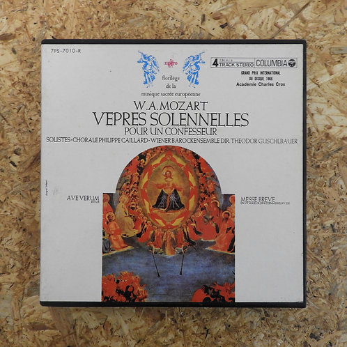 <再生確認済み>「 モーツァルトの宗教音楽 / テオドール・クシュルバウアー 」 オープンリール 7号 ミュージック テープ