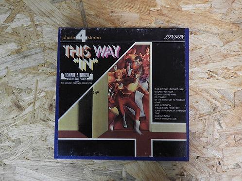 """<再生確認済み>「 THIS WAY """"IN"""" / RONNIE ALDRICH AND HIS TWO PIANOS 」 オープンリール 7号 ミュージック"""