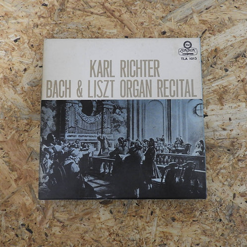 <再生確認済み>「 バッハ&リスト・オルガン・リサイタル / カール・リヒター 」 オープンリール 7号 ミュージック テープ