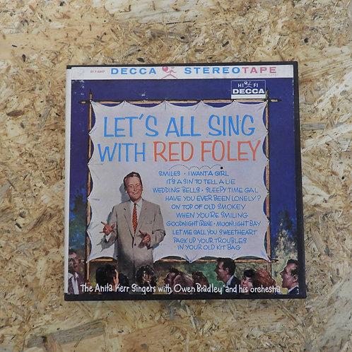 <再生確認済み>「 LET'S ALL SING WITH RED FOLEY 」 オープンリール 7号 ミュージック テープ