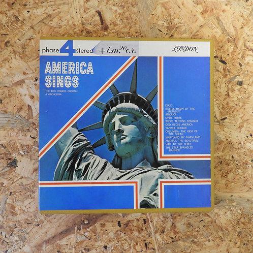 <再生確認済み>「 AMERICA SINGS / ERIC ROGERS CHORALE & ORCH 」 オープンリール 7号 ミュージック テープ