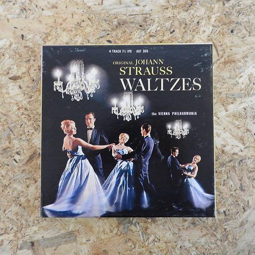 <再生確認済み>「 JOHANN STRAUSS WALTZES / VIENNA PHILHARMONIA 」 オープンリール 7号 ミュージック テープ