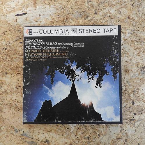 <再生確認済み>「 BERNSTEIN: CHICHESTER PSALMS , FACSIMILE」 オープンリール 7号 ミュージック テープ