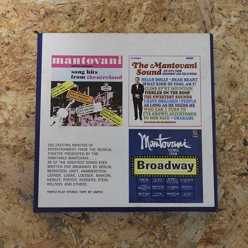<再生確認済み>「 MANTOVANI BROADWAY HITS FOR EVERYONE 」 マントヴァーニ オープンリール 7号 ミュージック テープ