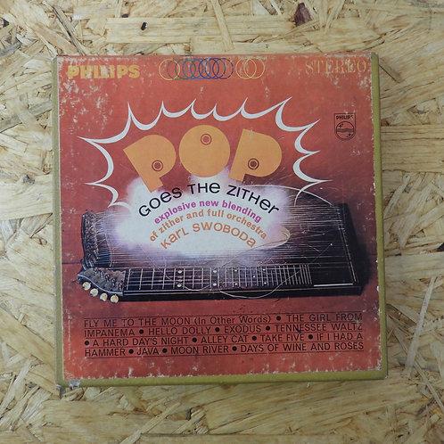 <再生確認済み>「 POP GOES THE ZITHER / KARL SWOBODA 」 オープンリール 7号 ミュージック テープ