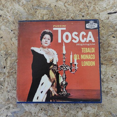 <再生確認済み>「 PUCCINI : TOSCA HIGHLIGHTS / RENATA TEBALDI 」 プッチーニ オープンリール 7号 ミュージック
