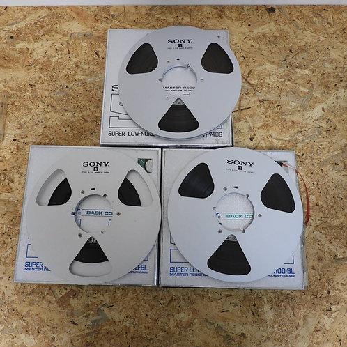 <状態未チェック> オープンリール テープ 10号 メタルリール 3本セット! 208