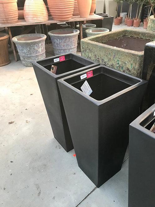 """30"""" black plastic planter"""