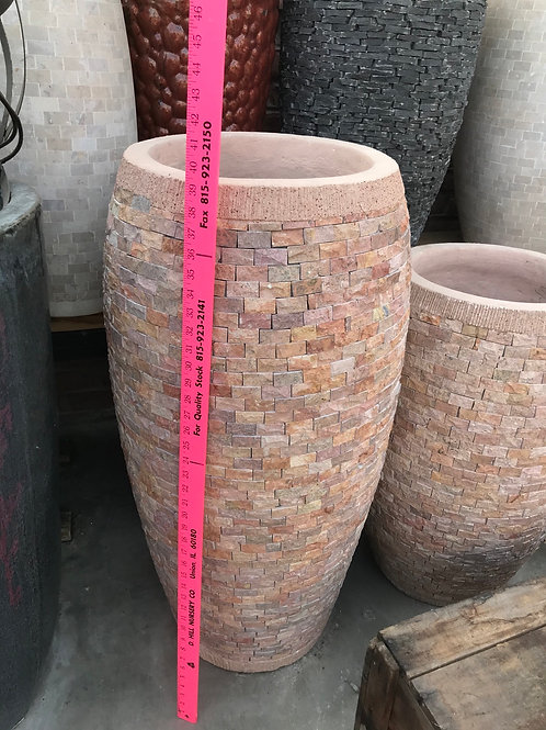Concrete and stone pot