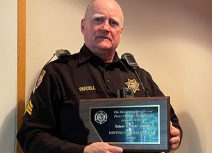 Sgt. Robert Parcell Honored with Distinguished Career Award