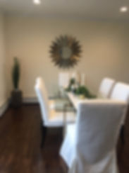 Staged Long Island | Staging Your Home For Sale | Home Stager | Increase Value | Sell Your Home | Dinner Table | Dining Area | After Staging