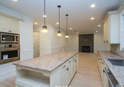 Staged Long Island | Staging Your Home For Sale | Home Stager | Configuring Your Home | Increase Value | Sell Your Home | Large Empty Room | Dining Bar | Kitchen | Before